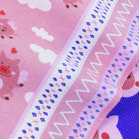 Набор вафельных полотенец 3 шт 50/60 см 1082/3 Поросята в облаках цвет розовый фото