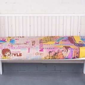 Простыня на резинке бязь детская 4957/1 Модницы Fashion цвет розовый 90/200/20 см фото