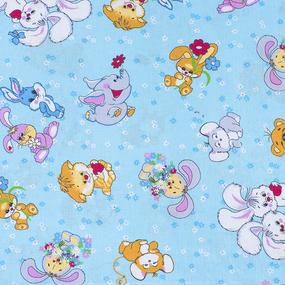 Набор детских пеленок бязь 4 шт 90/120 см 4605/1 Солнца лучик золотой цвет голубой фото