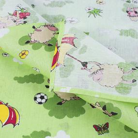 Набор детских пеленок бязь 4 шт 90/120 см 317/3 Овечки зеленый фото