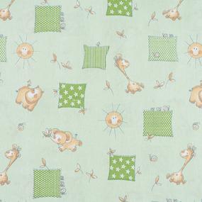 Набор детских пеленок бязь 4 шт 90/120 см 366/2 Жирафики цвет зеленый фото