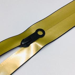 Молния спираль №7 разьем 65см водостойкая золото фото