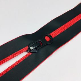 Молния спираль №7 разьем 65см водостойкая D519 красный черная тесьма фото