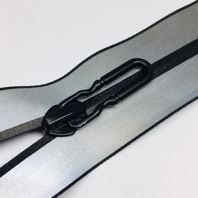 Молния спираль №7 разьем 65см светоотражающая серый фото