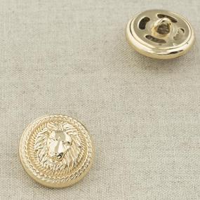 Пуговица металл ПМ92 22мм золото лев уп 12 шт фото
