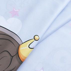 Ткань на отрез сатин детский 315/150 см П10 Принцесса и единорог фото