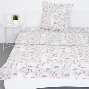 Детское постельное белье из поплина 1.5 сп 28317/1 Лесная сказка основа фото