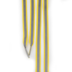 Шнур плоский желтый со светоотражающей лентой 120см уп 2 шт фото