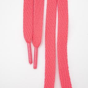 Шнур плоский розовый 120см уп 2 шт фото