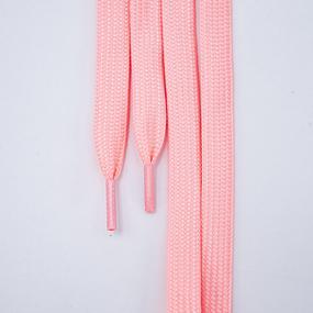 Шнур плоский розовый люминесцентные 90см 1 шт фото