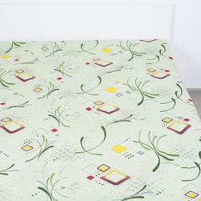 Простынь бязь ГОСТ 319/1 Вальс цвет зеленый 1.5 сп фото