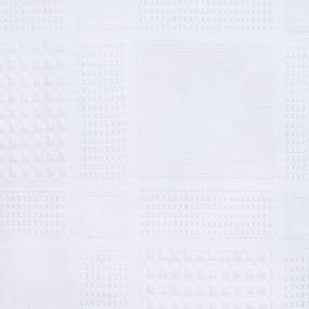 Вафельное полотно отбеленное Дубки 150 см 300 гр/м2 фото