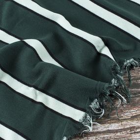 Ткань на отрез кашкорсе полоса зеленый фото