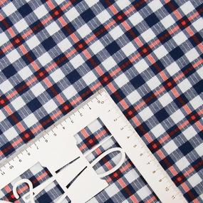 Ткань на отрез кулирка R3062-V6 Красно-синяя клетка фото