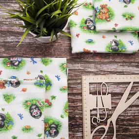 Набор детских пеленок фланель 4 шт 75/120 см 136-1П фото