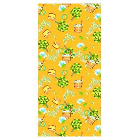 Полотенце вафельное банное 150/75 см 376/3 Баня цвет желтый фото