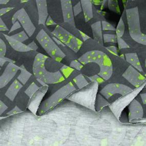 Ткань на отрез кулирка R3345-V2 Вкрапина цвет салатовый фото