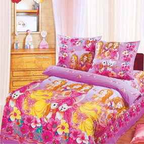Бязь 120 гр/м2 детская 220 см 9405 Красавицы розовый фото