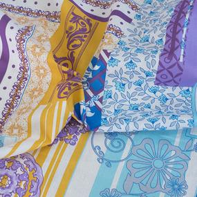Простынь бязь 1154/2 Мотивы цвет голубой 1.5 сп фото