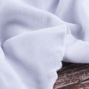 Ткань на отрез велюр 9000 Optik white фото