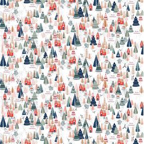 Рогожка 150 см набивная арт 904 Тейково рис 29039 вид 1 Merry Christmas фото