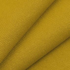 Ткань на отрез кашкорсе с лайкрой цвет Горчичный фото