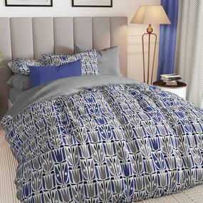 Поплин 220 см 115 г/м2 28304/2 Тюльпаны синие фото