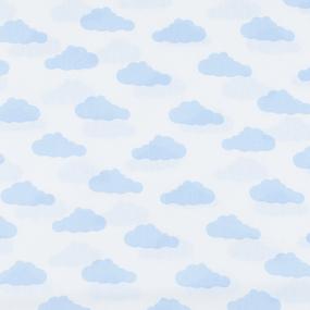 Мерный лоскут бязь плательная 150 см 1745-А/3 цвет голубой 2.6 м фото