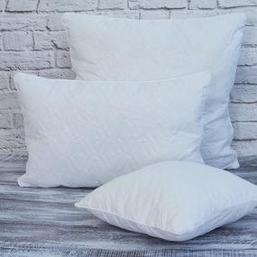 Подушка полиэфир чехол стеганый бязь отбеленная 50/70 фото
