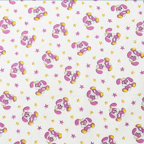 Ткань на отрез ситец О/М 80 см 8844 цвет белый фото