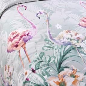 Постельное белье бязь 203561 Фламинго 1 зел 2-х сп фото