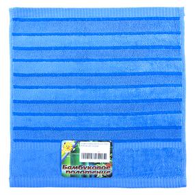 Салфетка махровая Sunvim 12В-2 34/34 см цвет голубой фото