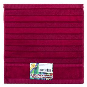 Салфетка махровая Sunvim 12В-2 34/34 см цвет бордовый фото