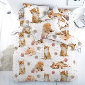 Детское постельное белье 16084/1 Рыжие котята 1.5 сп перкаль фото