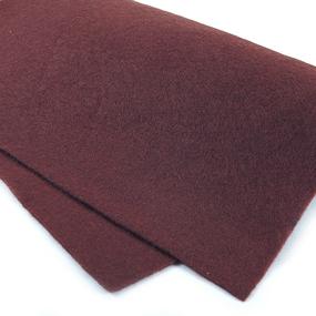Фетр листовой мягкий IDEAL 1 мм 20х30 см FLT-S1 упаковка 10 листов цвет 687 т-коричневый фото