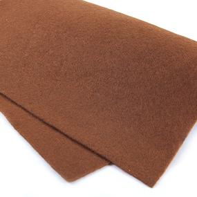 Фетр листовой мягкий IDEAL 1 мм 20х30 см FLT-S1 упаковка 10 листов цвет 692 коричневый фото