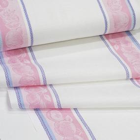 Полулен полотенечный 50 см Жаккард Фруктовый микс 4243/5 розовый фото