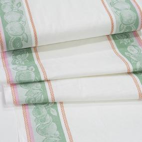 Полулен полотенечный 50 см Жаккард Фруктовый микс 4243/3 зеленый фото
