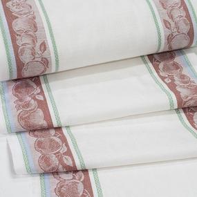 Полулен полотенечный 50 см Жаккард Фруктовый микс 4243/1 красный фото