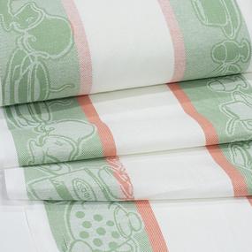 Полулен полотенечный 50 см Жаккард 4216/4 цвет зеленый фото