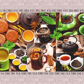 Полотно вафельное 50 см набивное арт 60 Тейково рис 5606 вид 1 Чайная церемония фото