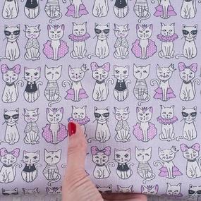 Ткань на отрез бязь ГОСТ Шуя 150 см 9949/4 Котики цвет розовый фото