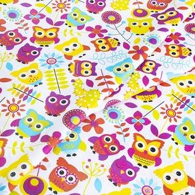 Ткань на отрез бязь ГОСТ Шуя детская 150 см 82851 Совы фото