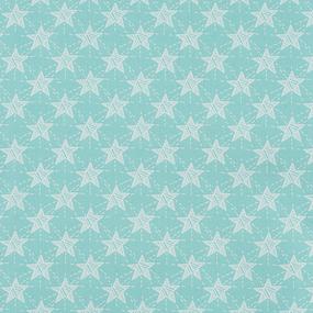 Ткань на отрез бязь ГОСТ Шуя 150 см 9947/3 Звезды цвет мята фото