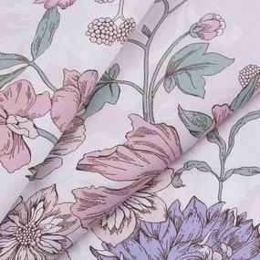 Ткань на отрез бязь ГОСТ Шуя 150 см 9913/1 Цветы розовый фото