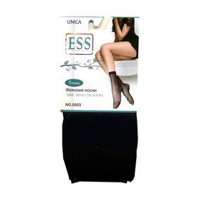 Женские капроновые носки ESS 5503 чёрные фото