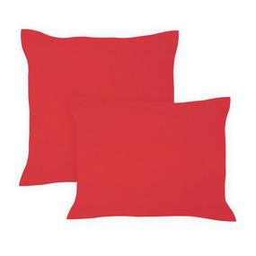 Наволочка бязь гладкокрашенная 120 гр/м2 50/70 цвет красный фото