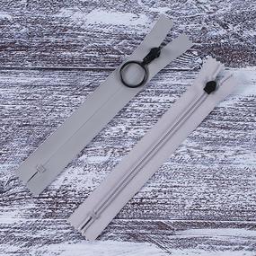 Молния водостойкая №7В6 одноцвет н/р 18см серый 132 черное кольцо фото