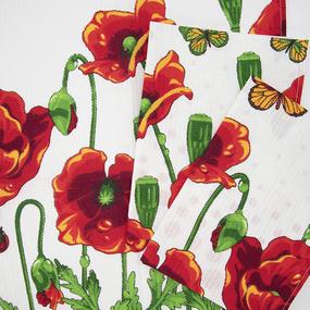 Набор вафельных полотенец 3 шт 35/70 см 438-4 Маков цвет фото