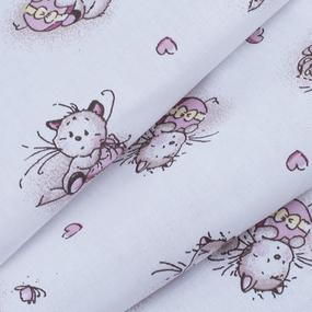 Ткань на отрез ситец 95 см 9019/1 Пушистые котята фото